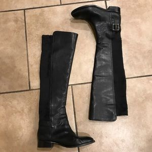 Tory Burch OTK Black Leather Boots